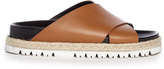Marni Cross-strap leather slides