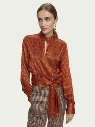 Scotch & Soda Long sleeve waist tie top | Women