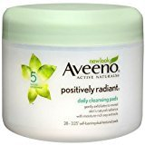 Aveeno Positively Radiant Cleansing Pads 28 ea Pack of 4