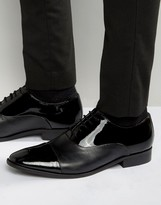 Dune Toe Cap Oxford Shoes In Patent Leather