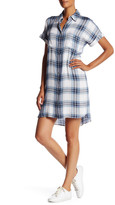 Max Studio Short Sleeve Plaid Shirt Dress