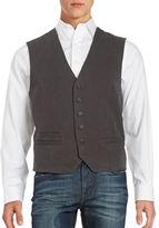 Black Brown 1826 Button Front Vest