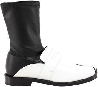 Maison Margiela Tabi Leather Loafer Boots
