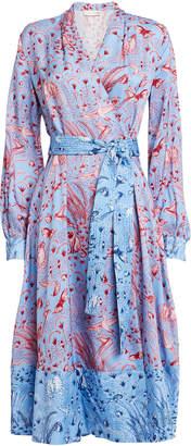 Stine Goya Reflection Printed Wrap Dress