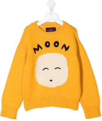 The Animals Observatory Moon intarsia sweater