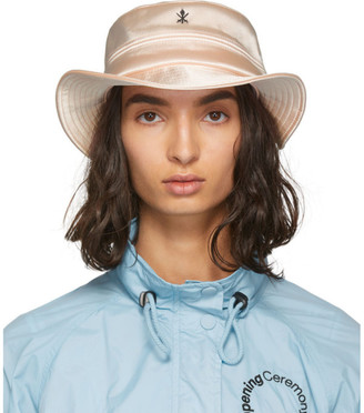 Opening Ceremony Pink Satin Bucket Hat