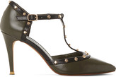Dune Cliopatra studded leather courts