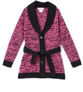 Pink Angel Fuchsia & Black Twist Tie-Waist Duster - Girls