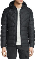 Belstaff Glenwood Flannel Hooded Down Jacket