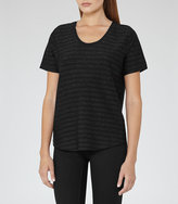 Reiss Alvie Metallic-Stripe T-Shirt