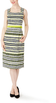 Lime Stripe Sheath Dress & Three-Quarter Sleeve Jacket - Plus Too