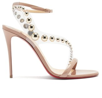 Christian Louboutin Corinetta 100 Pvc-strap Patent-leather Sandals - Nude Multi