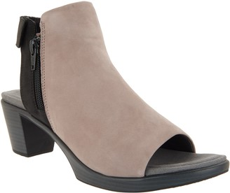 Naot Footwear Leather Colorblock Heeled Sandals - Favorite
