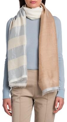 Agnona Colorblocked Stripe Scarf