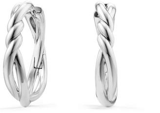 David Yurman Continuance Hoop Earrings in Sterling Silver