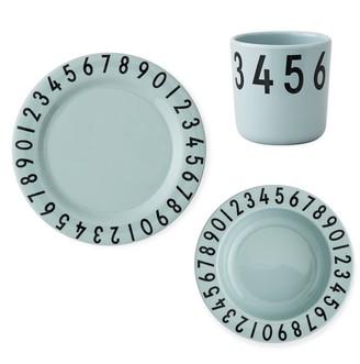 Design Letters Kids Melamine Tableware Gift Set 3-Piece Numbers - Green