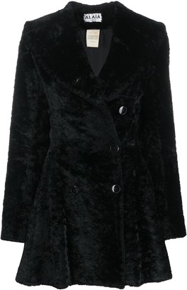 Alaïa Pre Owned Textured Ruffled Coat