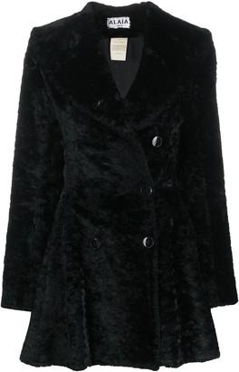 Alaïa Pre-Owned Textured Ruffled Coat