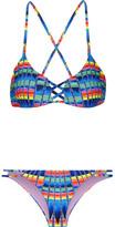 Mara Hoffman Printed Bikini - Azure