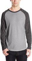 Element Men's Fundamental Long Sleeve Ragland Shirt, Grey Heather