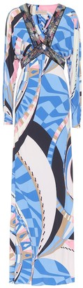 Emilio Pucci Sequined jersey maxi dress