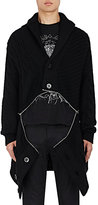 Alexander McQueen Men's Zip-Detailed Mixed-Knit Wool-Blend Shawl Cardigan