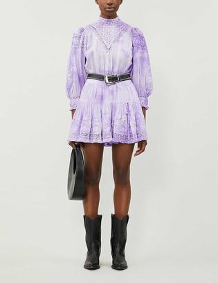 LoveShackFancy Viola tie-dye cotton mini dress