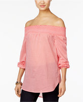 MICHAEL Michael Kors Cotton Off-The-Shoulder Top