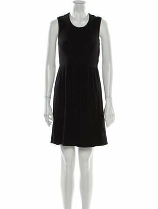 Burberry Crew Neck Mini Dress Black