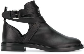 Casadei crossover straps ankle boots
