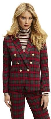 Scoop Women's Plaid Double Breasted Blazer