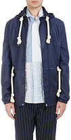 Loewe Men's Rope-Drawstring Leather Anorak