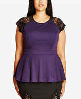 City Chic Trendy Plus Size Peplum Top