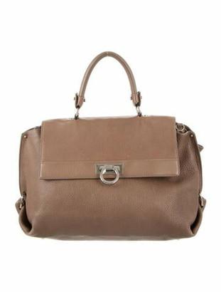 Salvatore Ferragamo Leather Sofia Shoulder Bag Brown