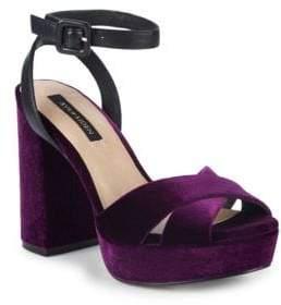 Ava & Aiden Riley Velvet Platform Sandals