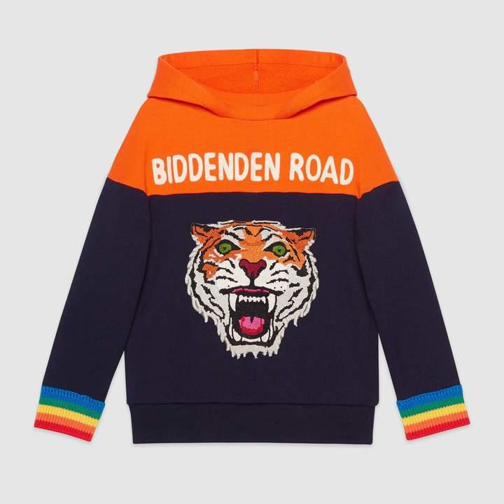 Gucci Children's hooded sweatshirt with appliqués