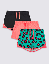 Marks and Spencer 3 Pack Jersey Shorts with StayNEWTM (3-14 Years)