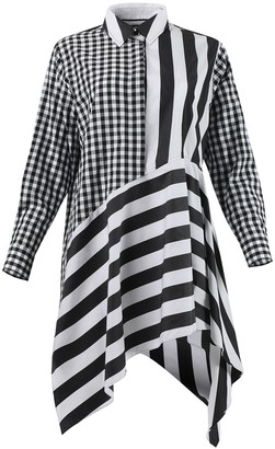 Marques Almeida Black And White Asymmetric Shirt Dress
