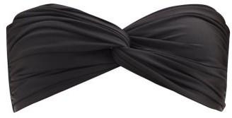 Sara Cristina Wave Bandeau Bikini Top - Black
