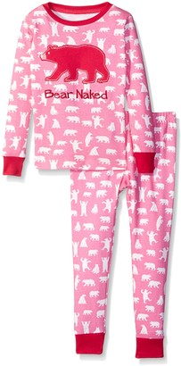 Hatley Little Blue House Girl's Long Sleeve Printed Pyjama Sets