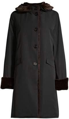 Jane Post Faux Fur Pile Lined Storm Coat