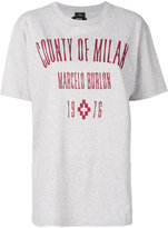 Marcelo Burlon County of Milan logo embroidered T-shirt - women - Cotton/Polyester - XXS