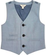 River Island Mini boys light blue vest
