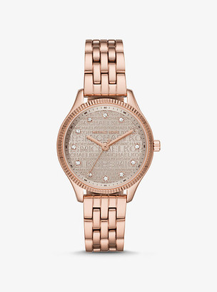 Michael Kors Lexington Rose Gold-Tone Watch - Rose Gold