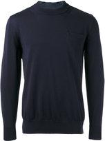 Sacai poplin insert jumper - men - Cotton/Polyester - 0