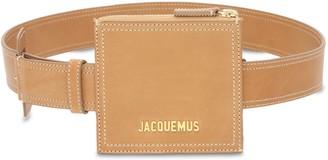 Jacquemus La Ceinture Carree Suede Belt