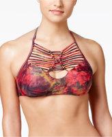 Becca Chakra High-Neck Macramé Bikini Top