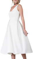 Closet Pleated Dress, White