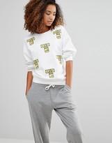 Love Moschino Lock Print Sweatshirt