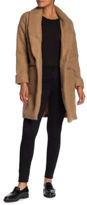 Bobeau Boucle Shawl Collar Jacket (Regular & Petite)